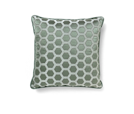 HONEYCOMB BLUE | Geometric Design Pillow by BRABBU