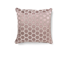 HONEYCOMB PINK | Geometric Design Pillow by BRABBU