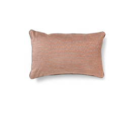 LOTUS SALMON | Geometric Design Pillow by BRABBU