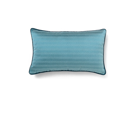 METROPOLIS BLUE | Geometric Design Pillow by BRABBU