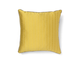 METROPOLIS YELLOW | Geometric Design Pillow by BRABBU