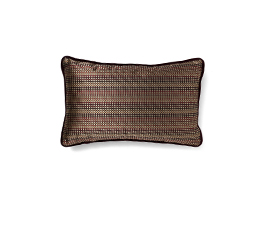 SKITTER BROWN | Geometric Design Pillow by BRABBU