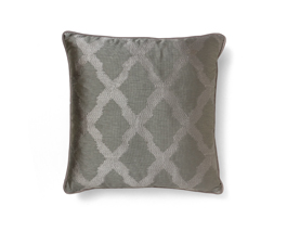 Morocco Grey | Satin Classic Design Pillow by BRABBU