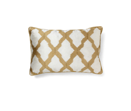 Morocco Gold | Cotton Classic Design Pillow by BRABBU