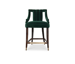 CAYO | Velvet Counter Stool Modern Design by BRABBU