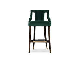 CAYO | Velvet Bar Chair Modern Design by BRABBU