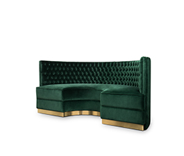 BOURBON | Round Sofa Modern Design by BRABBU