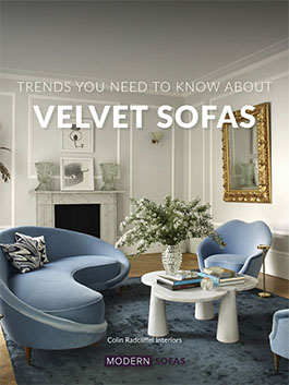 Velvet sofas can the be the highlight of your interior design project