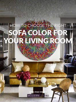 Give a Pop of Color to Your Living Room! Check out the color trends for sofas.