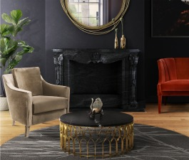 A dark and moody décor doesn't always include gloomy shades. Sprinkle a touch of colour and create a dramatic space full of life and character, just like this living room set. It features COMO Armchai