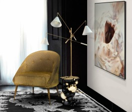 This graceful and stunning velvet armchair with a mystical soul will fulfill your living room with energy from nature. Enjoy this amazing armchair in velvet with legs in matte aged brass, placing it as