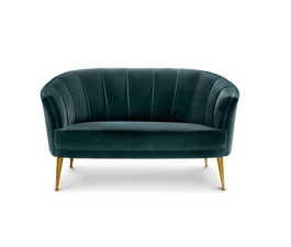The beautiful maya 2 seat sofa in blue will make a
